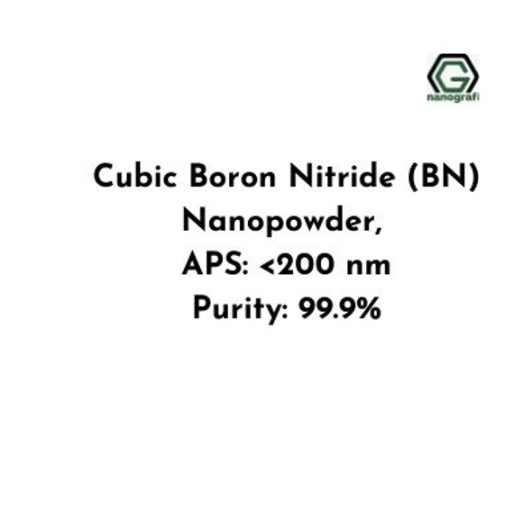 Cubic Boron Nitride (BN) Nanopowder, Size: < 200 nm, Purity: 99.9 %