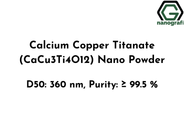 Calcium Copper Titanate (CaCu3Ti4O12) Nano Powder, D50: 360 nm, Purity: ≥ 99.5 %