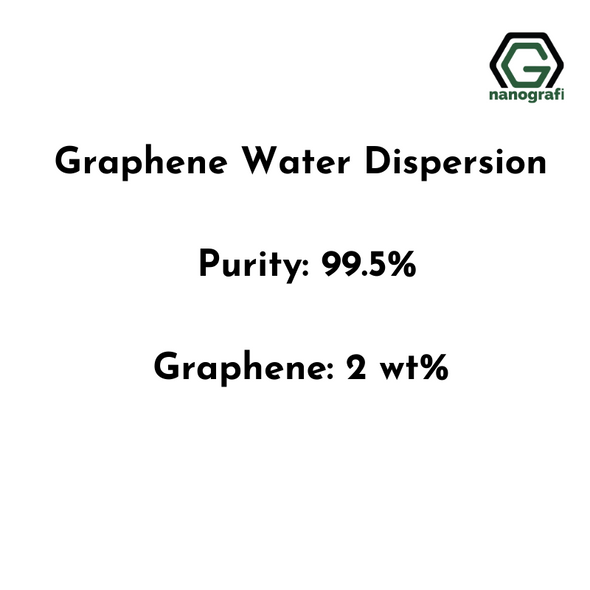 Graphene Water Dispersion, Purity: 99.5%, Black Liquid, Graphene: 2 wt%