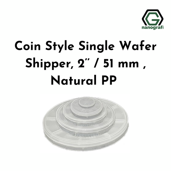 Coin Style Single Wafer Shipper, 2'' / 51 mm , Natural PP