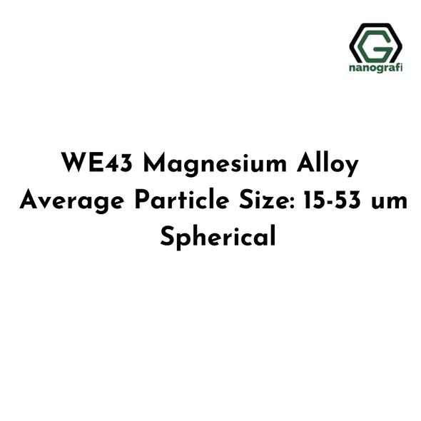 WE43 Magnesium Alloy Average Particle Size: 15-53 um, Spherical