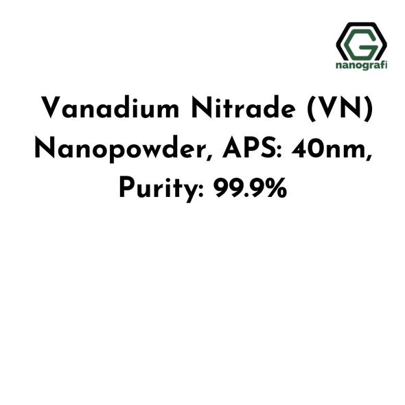Vanadium Nitrade (VN) Nanopowder, APS: 40nm, Purity: 99.9%