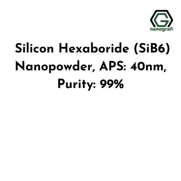 Silicon Hexaboride (SiB6) Nanopowder, APS: 40nm, Purity: 99%