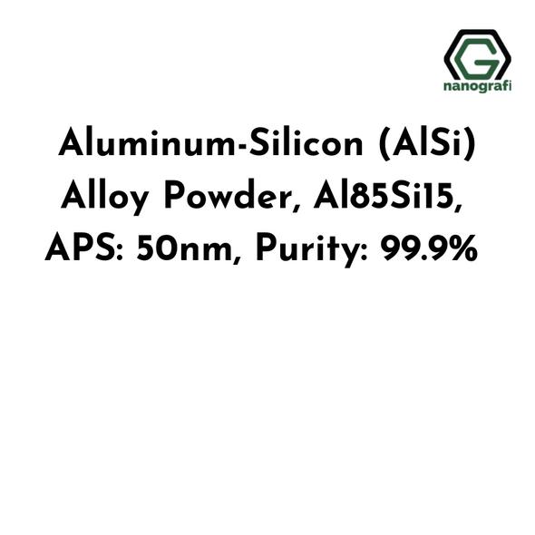Aluminum-Silicon (AlSi) Alloy Powder, Al85Si15, APS: 50nm, Purity: 99.9%