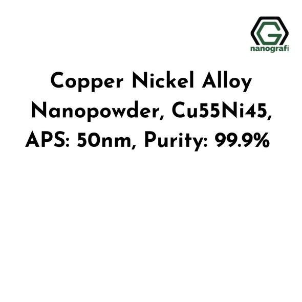 Copper Nickel Alloy Nanopowder, Cu55Ni45, APS: 50nm, Purity: 99.9%