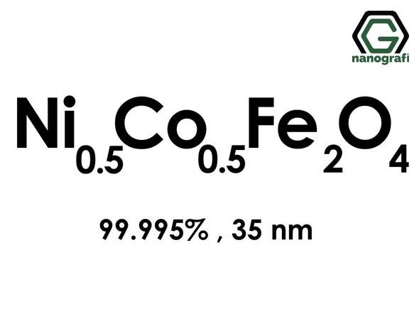 Nickel Cobalt Iron Oxide (Ni0.5Co0.5Fe2O4) Nanopowder/Nanoparticles, Purity: 99.995%, Size: 35 nm- NG04MO1202