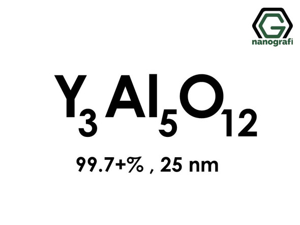 Yttrium Aluminate (Y3Al5O12) Nanopowder/Nanoparticles, Purity: 99.7+%, Size: 25 nm- NG04MO1601