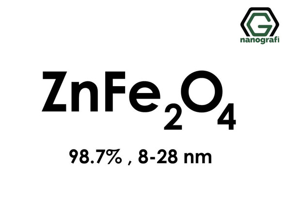 Zinc Iron Oxide (ZnFe2O4) Nanopowder/Nanoparticles, Purity: 98.7%, Size: 8-28 nm- NG04MO1701
