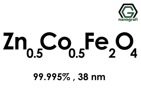 Zinc Cobalt Iron Oxide (Zn0.5Co0.5Fe2O4) Nanopowder/Nanoparticles, Purity: 99.995%, Size: 38 nm- NG04MO1801