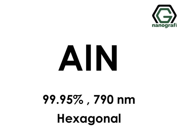 Aluminium Nitride (AlN) Nanopowder/Nanoparticles, Purity: 99.95%, Size: 790 nm, Hexagonal  - NG04CO0101