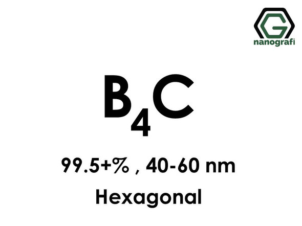 Boron Carbide (B4C) Nanopowder/Nanoparticles, Purity: 99.5+%, Size: 40-60 nm, Hexagonal- NG04CO0402