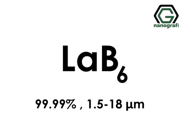 Lanthanum Hexaboride (LaB6) Micron Powder, High Purity: 99.99%, Size: 1.5-18 µm- NG04CO0801