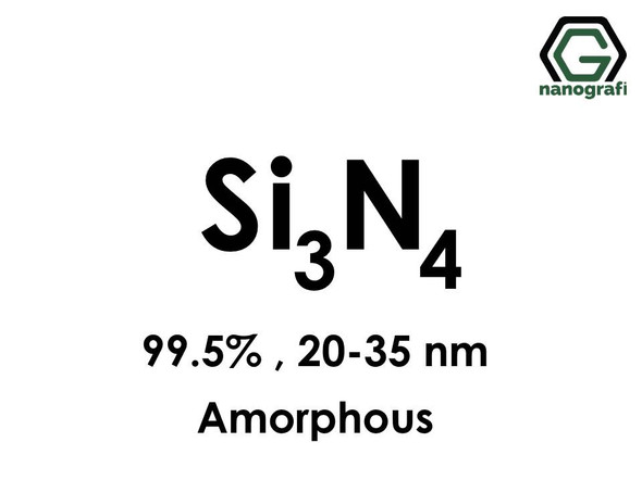 Silicon Nitride (Si3N4) Nanopowder/Nanoparticles, Amorphous, Purity: 99.5%, Size: 20-35 nm- NG04CO1601