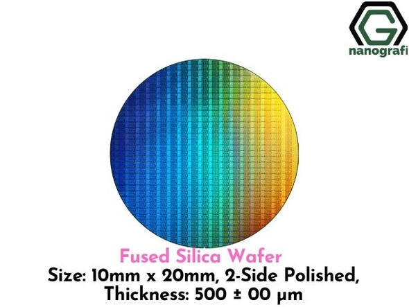 Fused Silica Wafer, Size: 10mm x 20mm, 2-Side Polished, Thickness: 500 ± 00 μm,- NG08SW0604