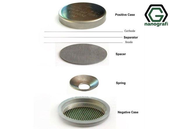 CR2032 Coin Cell Case (Negative Case, Cone Spring, Spacer, Positive Case)- NG08BE0101