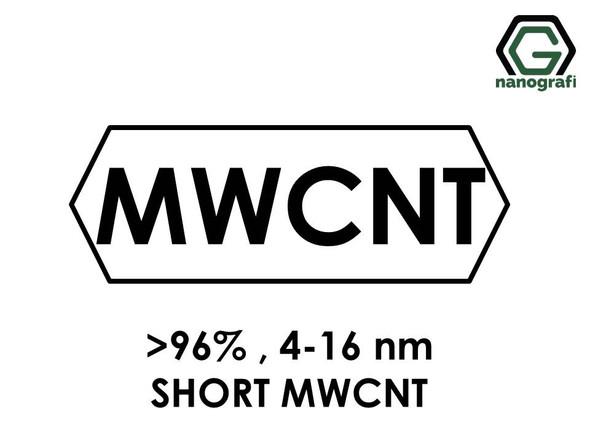 Short Length Multi Walled Carbon Nanotubes, Purity: > 96%, Outside Diameter: 4-16 nm- NG01SMW0104