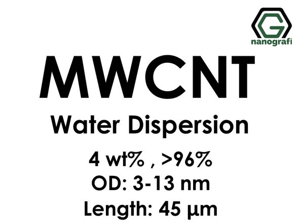 Multi Walled Carbon Nanotubes Water Dispersion, 4 wt%, Purity: > 96%, OD: 3-13 nm, Length: 45 µm- NG02CN0101