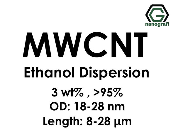 Multi Walled Carbon Nanotubes Ethanol Dispersion, 3 wt%, Purity: > 95%, OD: 18-28 nm, Length: 8-28 µm- NG02CN0107