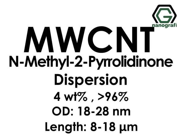 Multi Walled Carbon Nanotubes N-Methyl-2-Pyrrolidinone Dispersion, 4 wt%, Purity: > 96 %, OD: 18-28 nm, Length 8-18 µm- NG02CN0110
