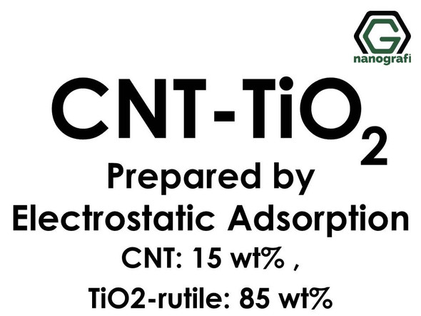 Carbon Nanotube-TiO2 Prepared by Electrostatic Adsorption, CNTs: 15 wt%, TiO2-rutile: 85 wt%- NG02CN0117