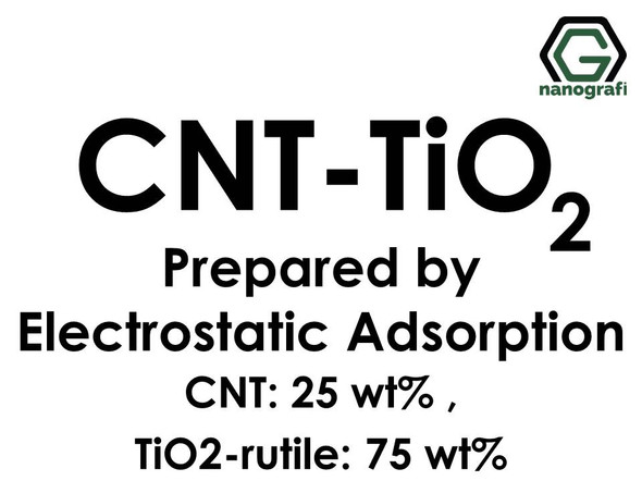 Carbon Nanotube-TiO2 Prepared by Electrostatic Adsorption, CNTs: 25 wt%, TiO2-rutile: 75 wt%- NG02CN0118
