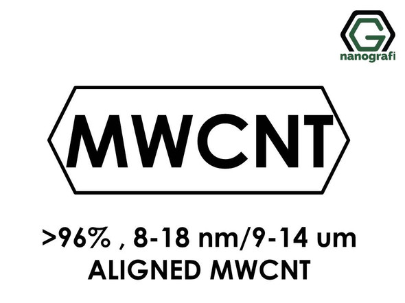 Aligned Multi Walled Carbon Nanotubes, Purity: > 96%,  Outside Diameter: 8-18 nm, Length 9-14 µm- NG01AM0101
