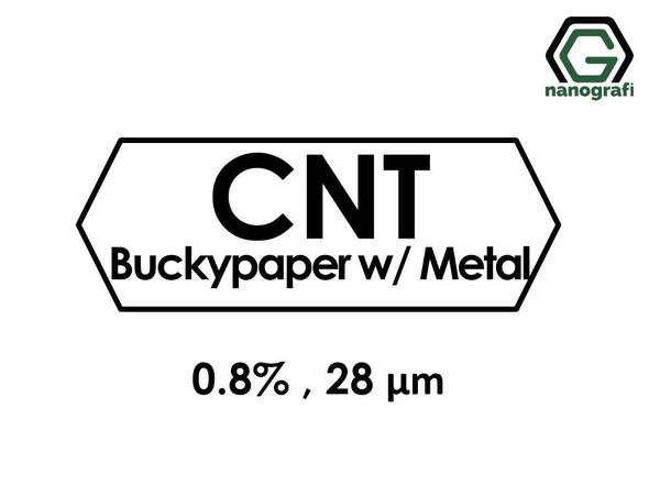 Carbon Nanotube Buckypaper with Metal 0.8%, Thickness: 28 µm, Diameter: 47 mm- NG01SC0301