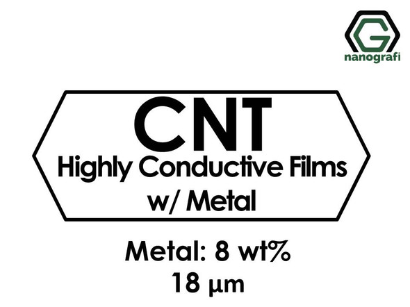 Carbon Nanotubes Highly Conductive Films with Metal 8%, Thickness: 18 µm, Dia: 47 mm- NG01SC0302