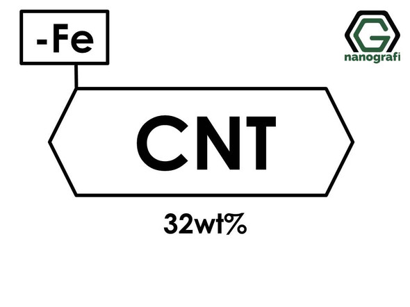 Carbon Nanotubes Doped with 32 wt% Iron (Fe) Nanopowder/Nanoparticles