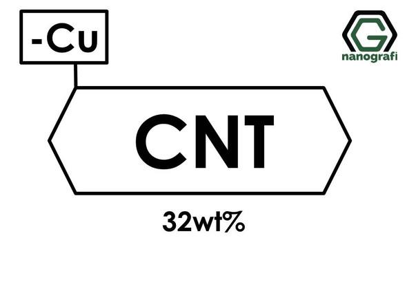 Carbon Nanotubes Doped with 32 wt% Copper (Cu) Nanopowder/Nanoparticles