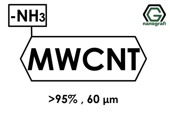 Amino-Multi Walled Carbon Nanotubes, Purity: > 95 wt%, Length: 60 μm