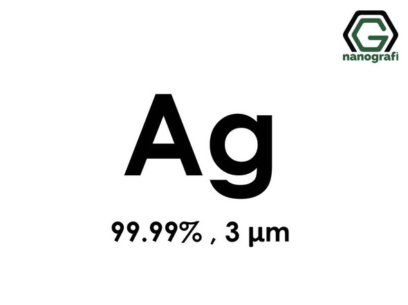 Ag(Silver) Micron Powder, 3 Micron, 99.99 %