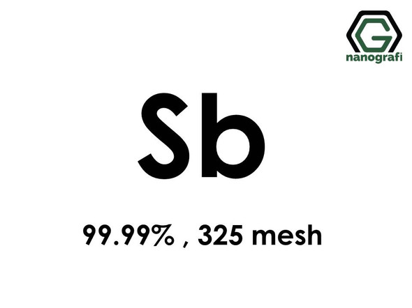 Sb(Antimony) Micron Powder, 325 mesh, 99.99 %