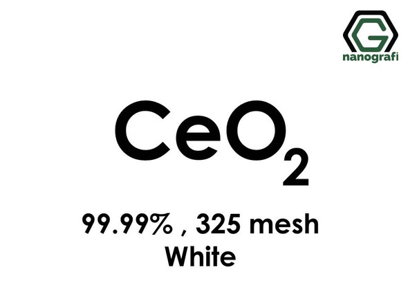 CeO2(Cerium Oxide) Micron Powder (White), 325 mesh, 99.99 %