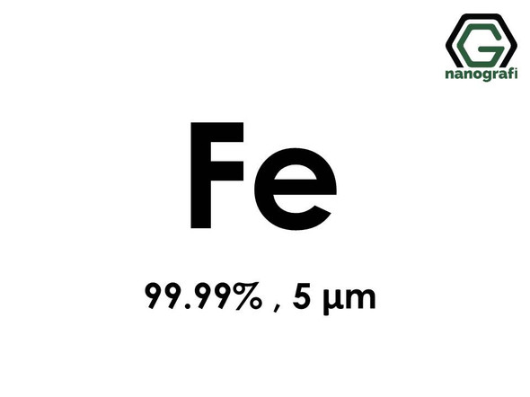 Fe(Iron) Micron Powder, 5 Micron, 99.99 %