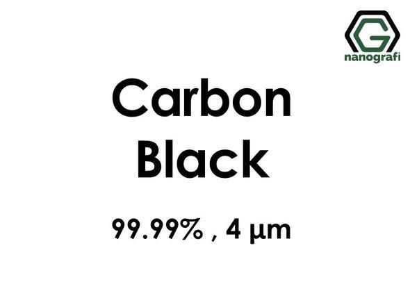 Carbon Black Micron Powder, 4 Micron, 99.99 %