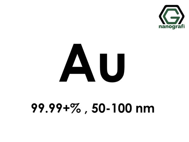 Gold (Au) Nanopowder/Nanoparticles, Purity: 99.99+%, Size: 50-100 nm- NG04EO0301