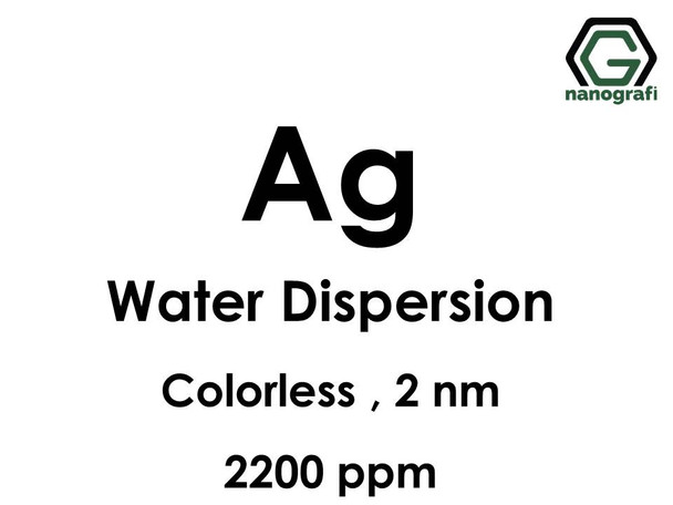 Ag in Water, 2nm, 2,200ppm, Colorless & Transparent