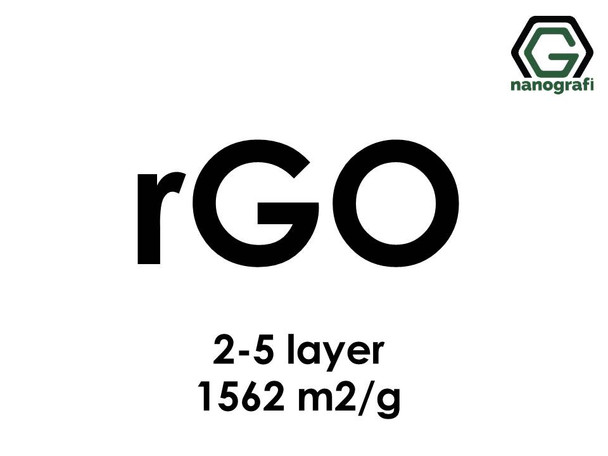 Reduced Graphene Oxide (rGO), S.A:1562m2/g, 2-5 layers
