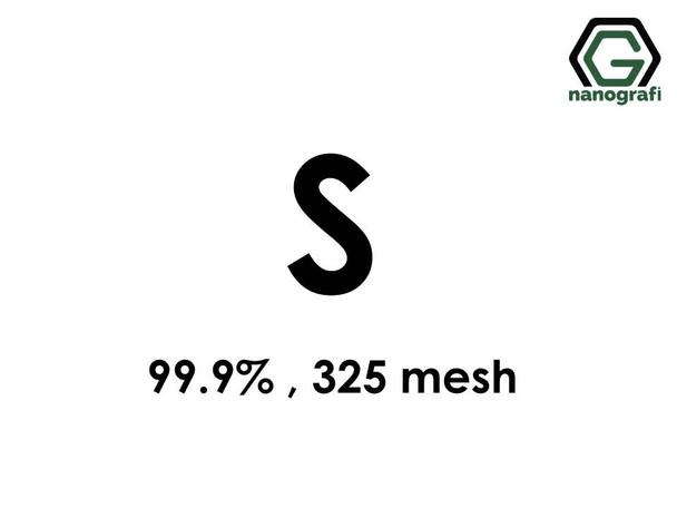 S (Sulphur) micron powders; 325 Mesh, 99.9%