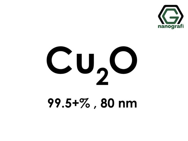 Cuprous Oxide Nanoparticles CU2O 80 nm, Purity 99.5+%