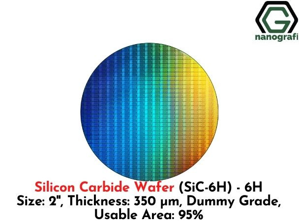Silicon Carbide Wafer (SiC-6H) - 6H , Size: 2'', Thickness: 350 μm, Dummy Grade, Usable Area: 95%