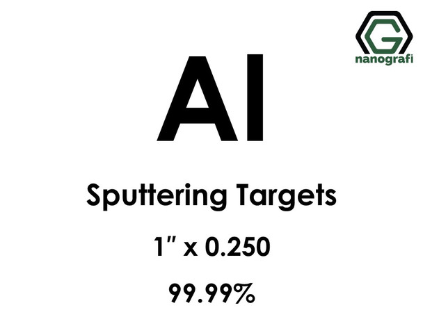 Aluminum (Al) Sputtering Targets, Size:1'' ,Thickness: 0.250'' , Purity: 99.99%