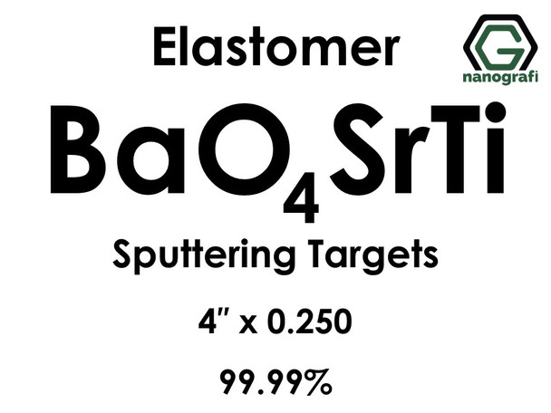 Barium Strontium Titanate(elastomer) (BaO4SrTi) Sputtering Targets, Size:4'' ,Thickness: 0.250'' , Purity: 99.99%