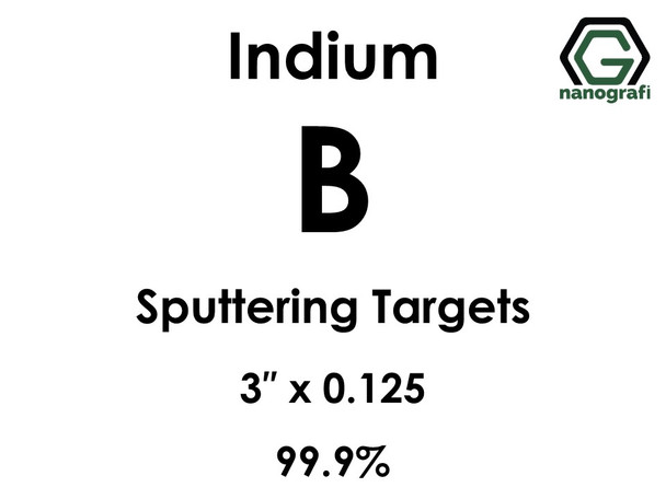 Boron(indium) (B) Sputtering Targets, Size:3'' ,Thickness:0.125'' , Purity: 99.9%