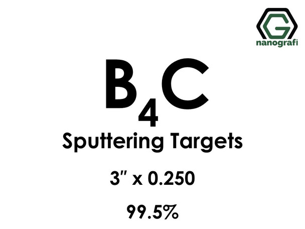 Boron Carbide (B4C) Sputtering Targets, Size:3'' ,Thickness:0.250'' , Purity: 99.5%