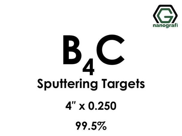 Boron Carbide (B4C) Sputtering Targets, Size:4'' ,Thickness:0.250'' , Purity: 99.5%