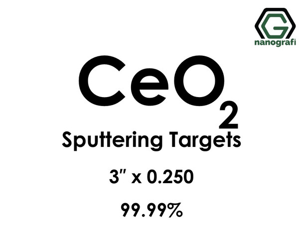 Cerium Oxide (CeO2) Sputtering Targets, Size:3'' ,Thickness:0.250'' , Purity: 99.99%