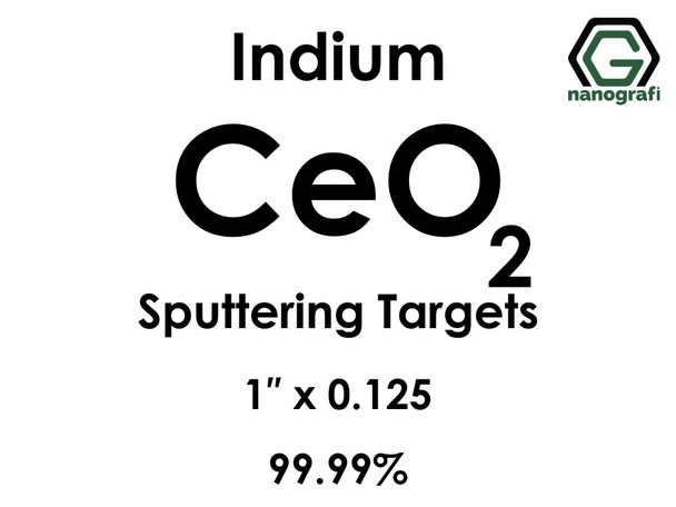 Cerium Oxide(indium) (CeO2) Sputtering Targets, Size:1'' ,Thickness:0.125'' , Purity: 99.99%