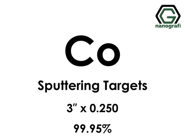 Cobalt (Co) Sputtering Targets, Size:2'' ,Thickness:0.250'' , Purity: 99.95%